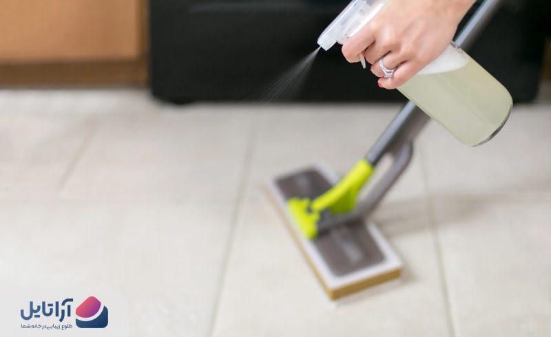 تمیز کردن کاشی آشپزخانه